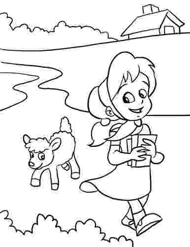 mary had a little lamb coloring page inkspired musings mary had a little lamb nursery rhyme fun lamb had coloring little page mary a