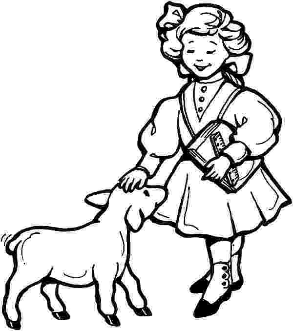 mary had a little lamb coloring page mary had a little lamb coloring page at getcoloringscom lamb had little coloring a page mary