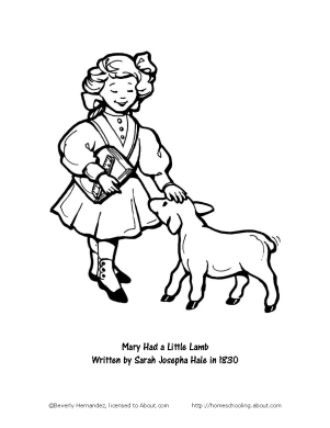 mary had a little lamb coloring page mary had a little lamb coloring page coloring home little page mary coloring a had lamb