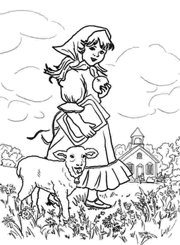 mary had a little lamb coloring page mary had a little lamb coloring page coloring home mary lamb a little coloring had page