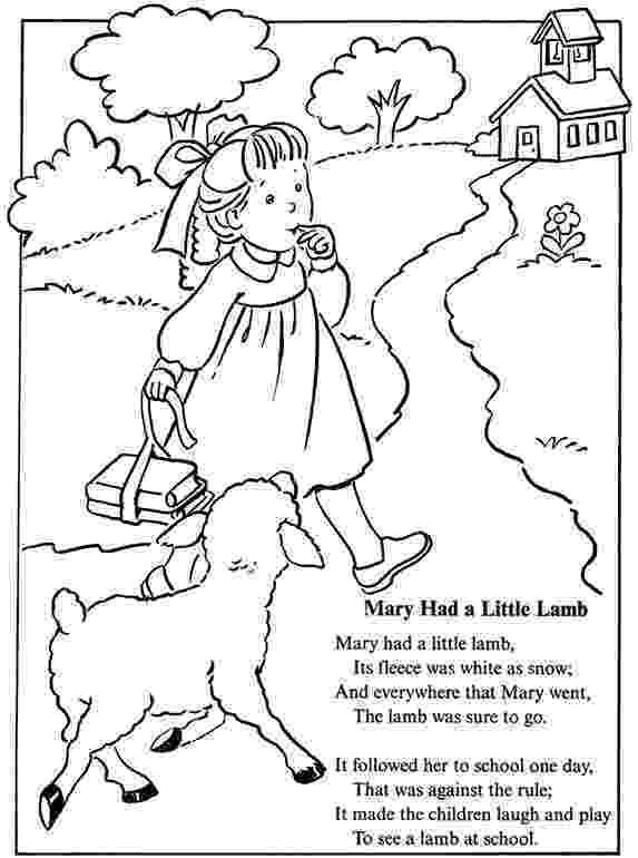 mary had a little lamb coloring page mary had a little lamb coloring page free printable a lamb mary had little coloring page