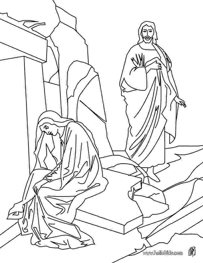 mary magdalene coloring page easter bible coloring page jesus appears to mary page mary magdalene coloring