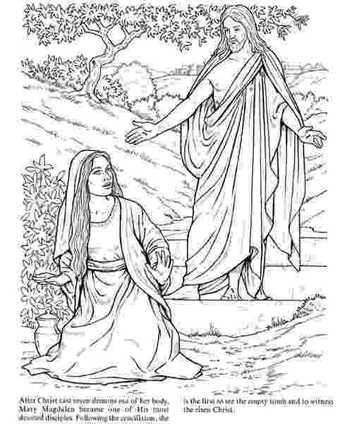 mary magdalene coloring page jesus appears to mary magdalene god39s promises by sarah mary coloring magdalene page