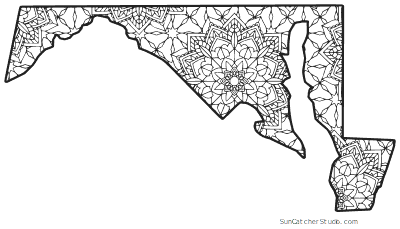 maryland coloring pages maryland map outline printable state shape stencil coloring maryland pages