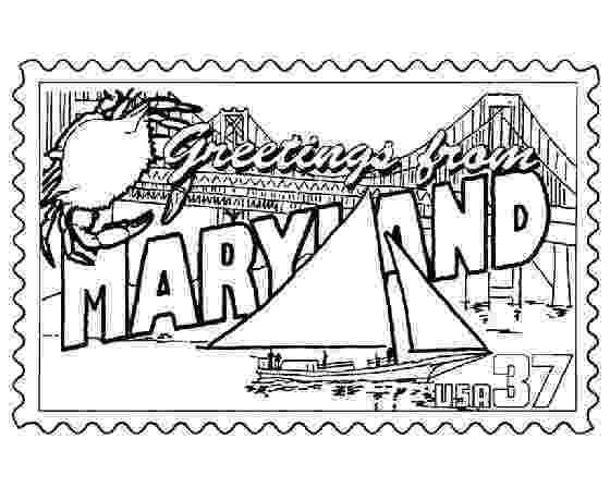 maryland coloring pages maryland state stamp coloring page usa coloring pages pages maryland coloring