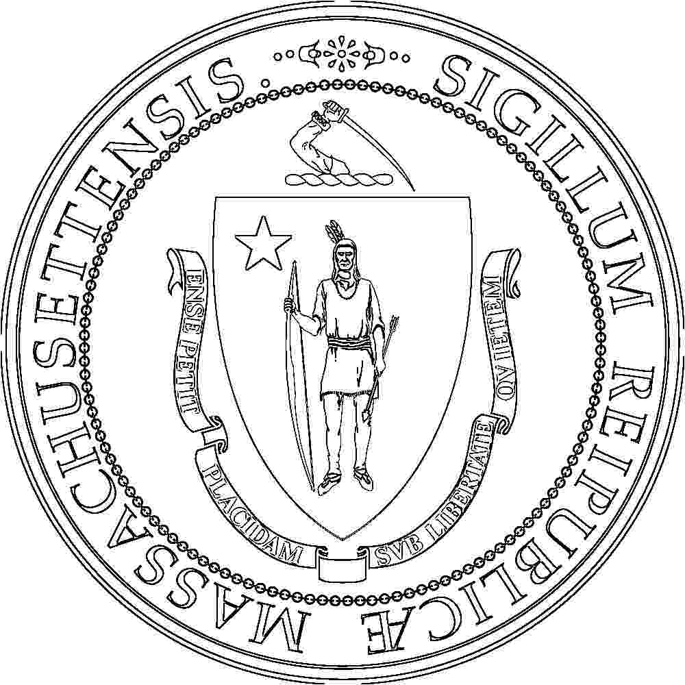 massachusetts state seal coloring page massachusetts flags emblems symbols outline maps coloring page seal state massachusetts