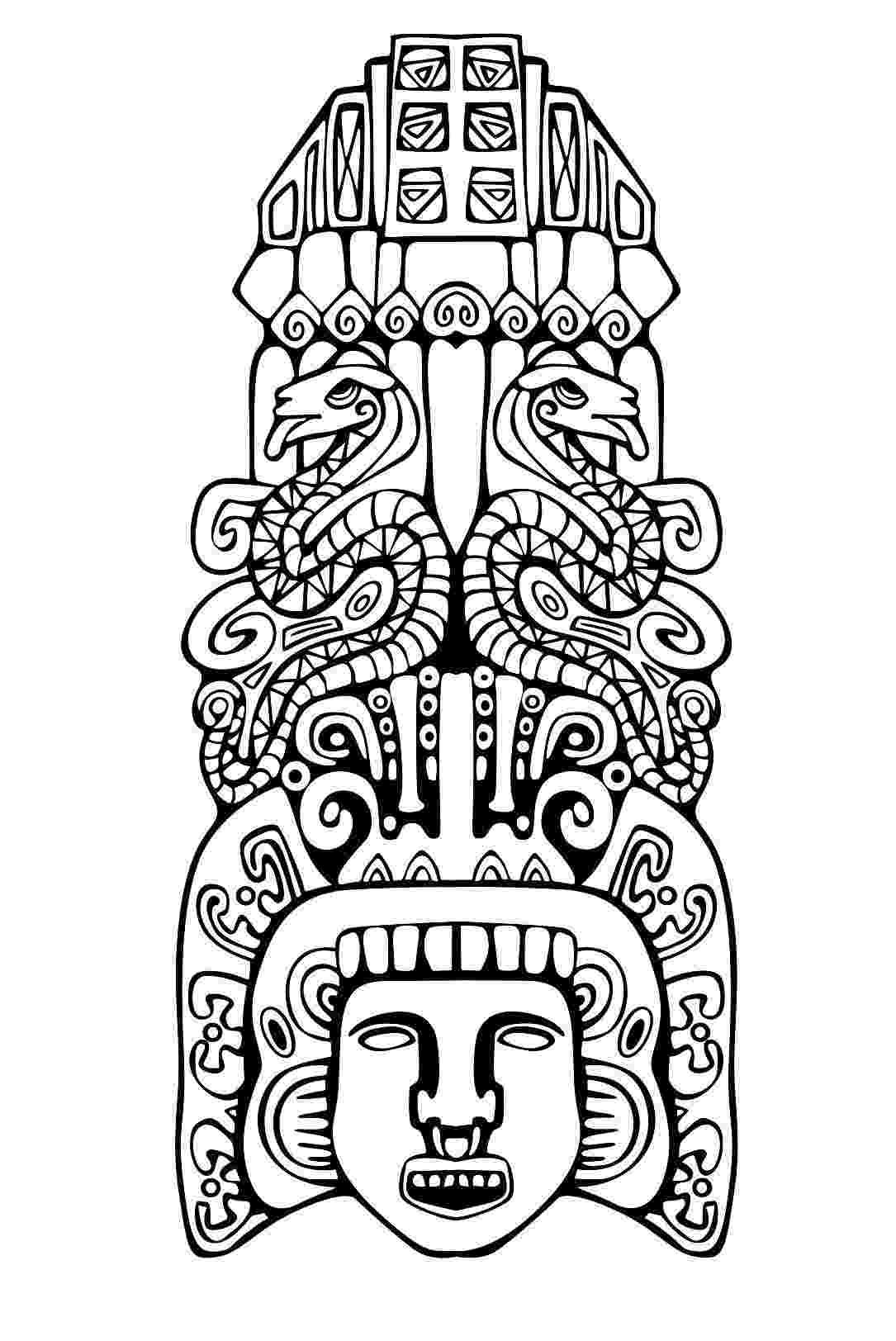 mayan coloring pages mayan calendar coloring page free printable coloring pages coloring pages mayan