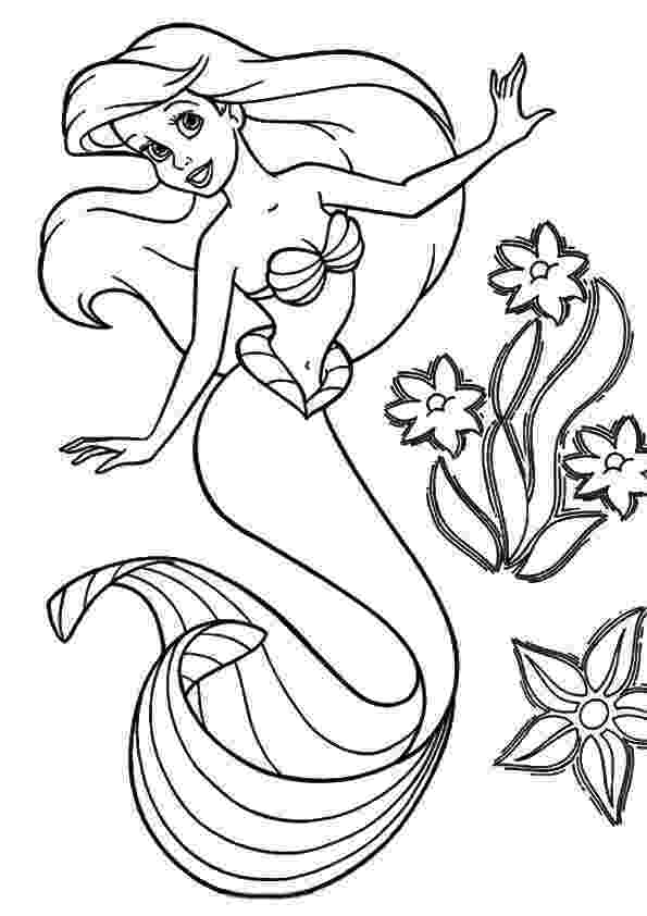 mermaid ariel coloring pages print coloring image momjunction mermaids mermaid ariel coloring mermaid pages