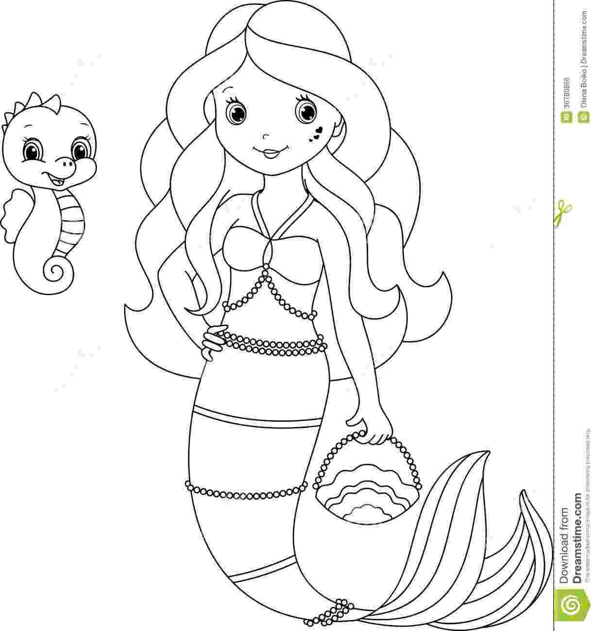 mermaid coloring page enchanted designs fairy mermaid blog free mermaid mermaid coloring page
