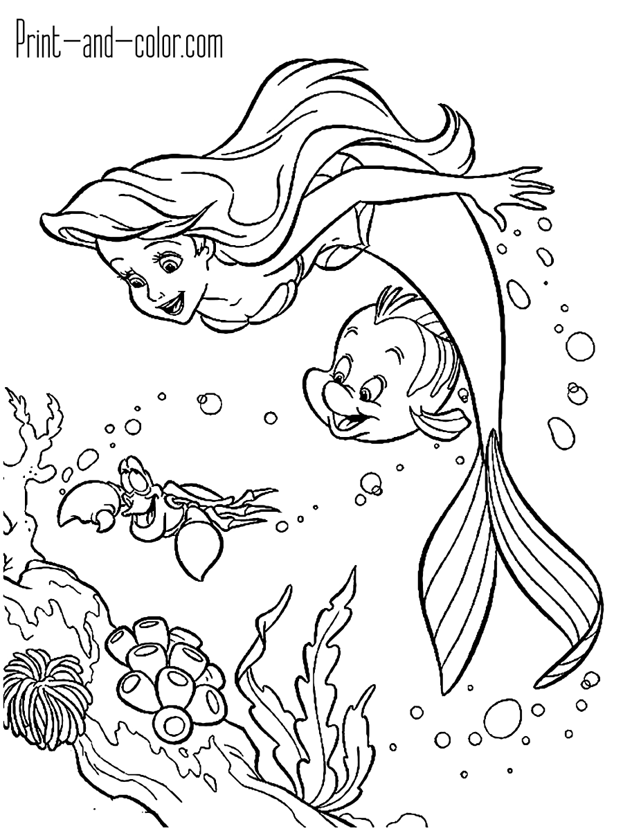 mermaid coloring page the little mermaid coloring pages print and colorcom coloring mermaid page