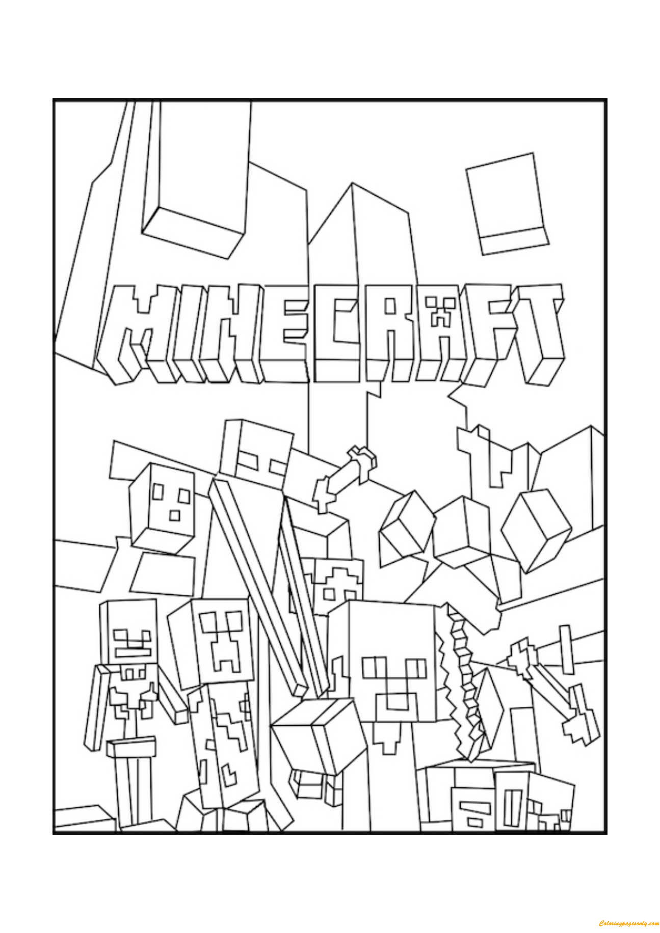 minecraft activity sheets minecraft coloring pages free printable free and birthdays activity minecraft sheets