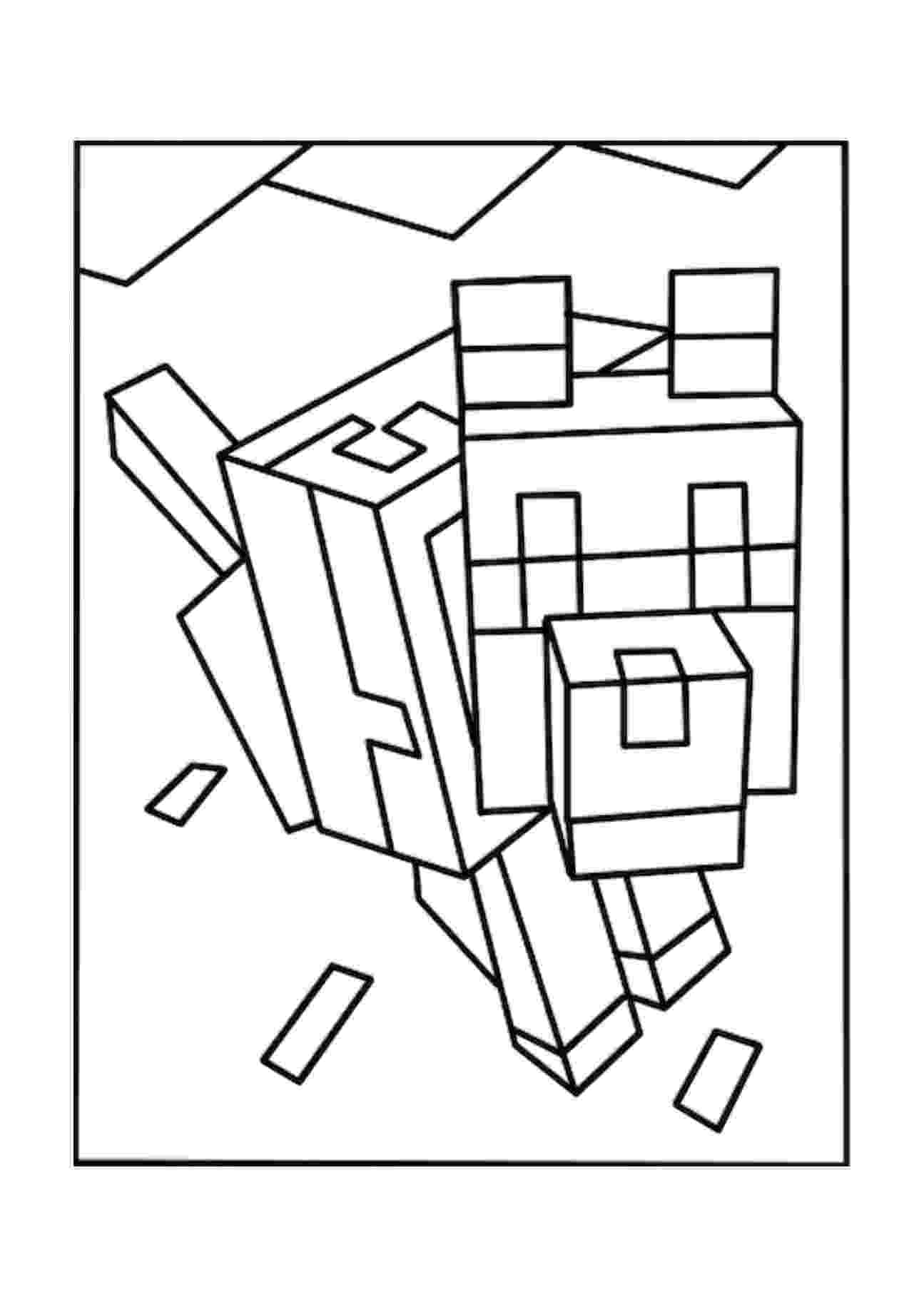 minecraft animal coloring pages minecraft animal coloring pages getcoloringpagescom coloring animal minecraft pages 1 1