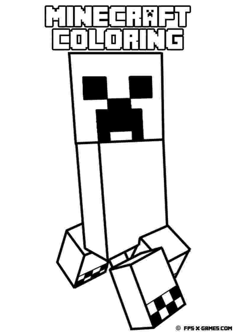 minecraft creeper pictures to color minecraft coloring pages creeper coloring pages creeper pictures color minecraft to