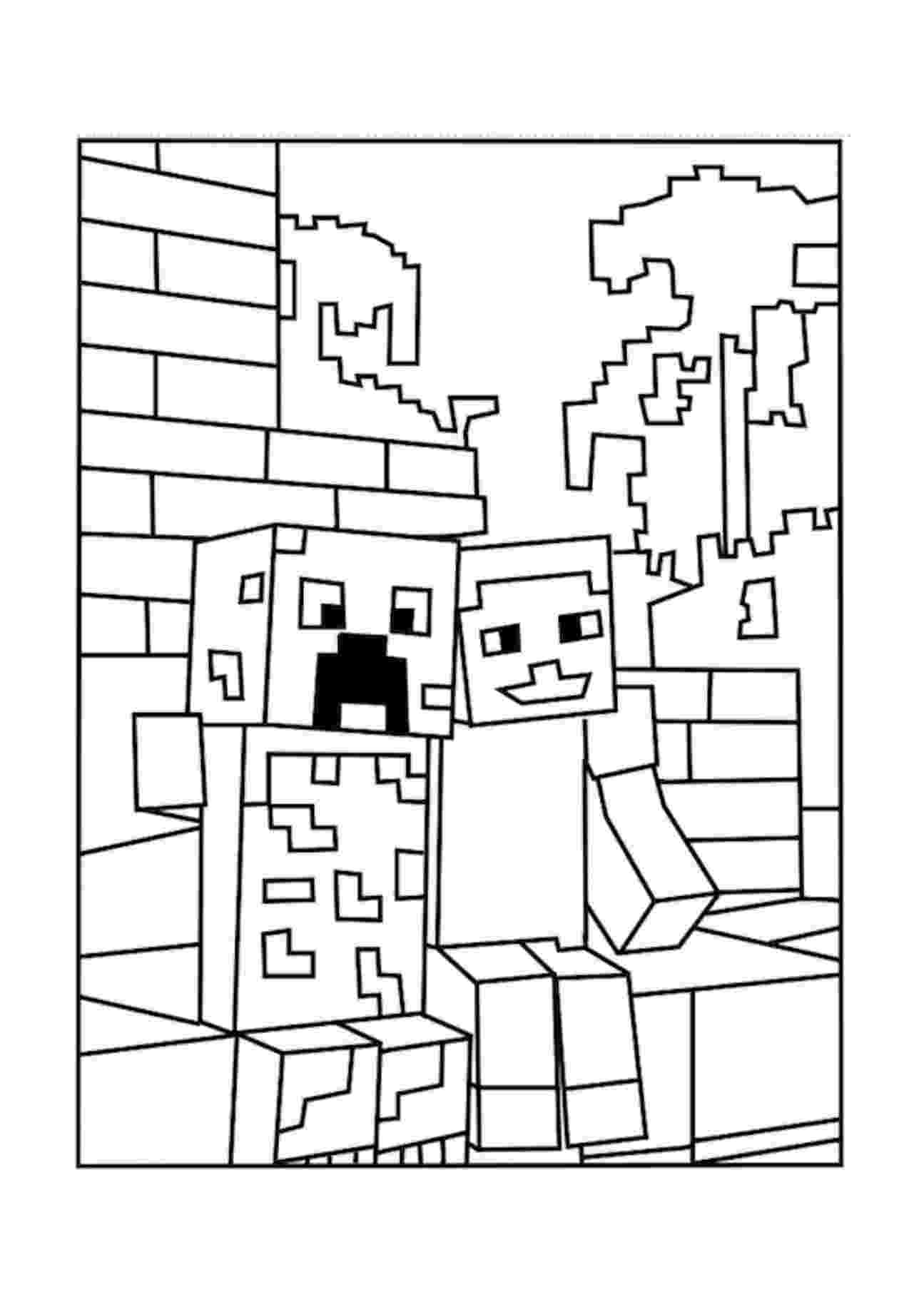 minecraft creeper pictures to color minecraft steve coloring pages getcoloringpagescom to minecraft creeper pictures color