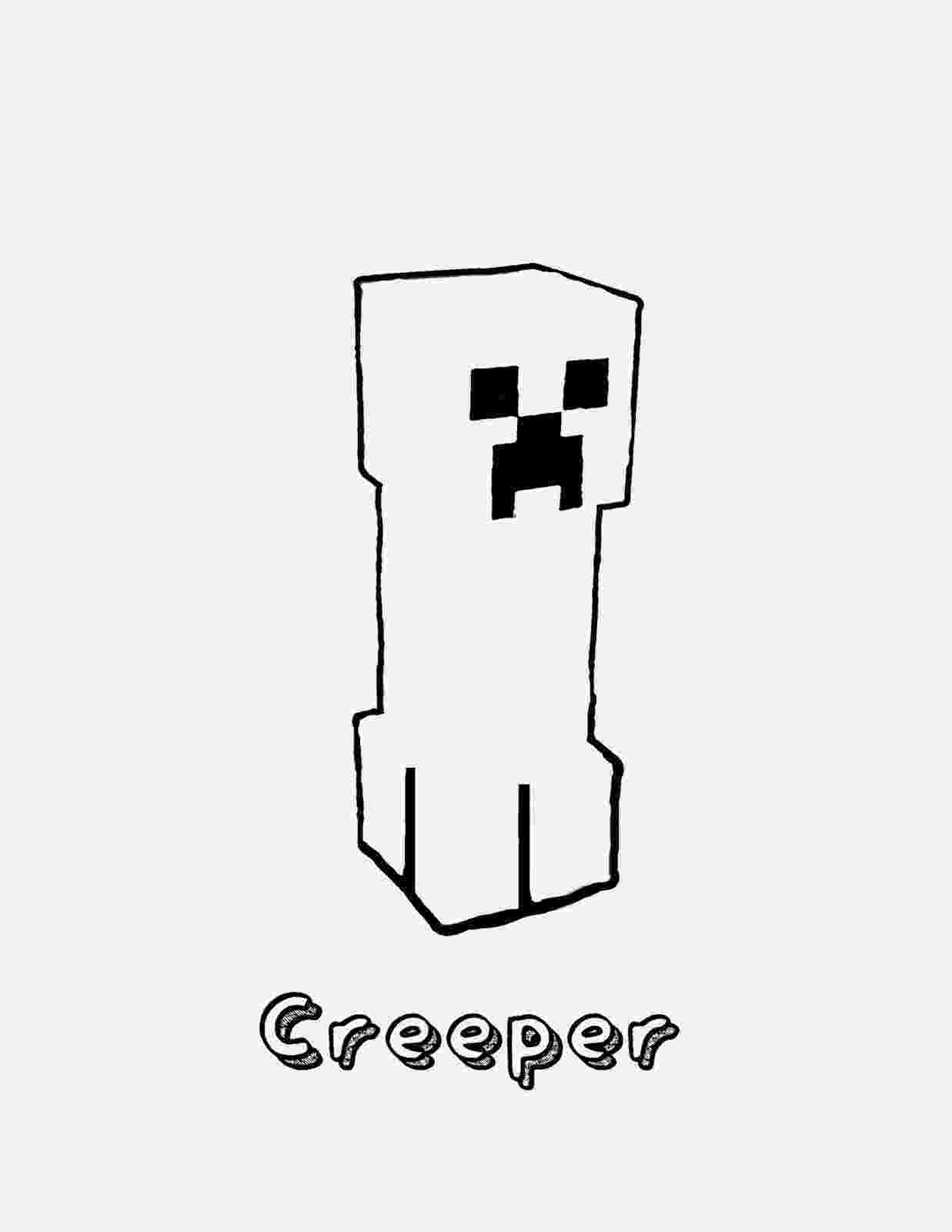 minecraft creeper pictures to color printable minecraft creeper coloring pages minecraft to color creeper pictures minecraft