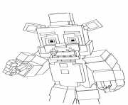 minecraft freddy five nights at freddys fnaf coloring pages free printable freddy minecraft