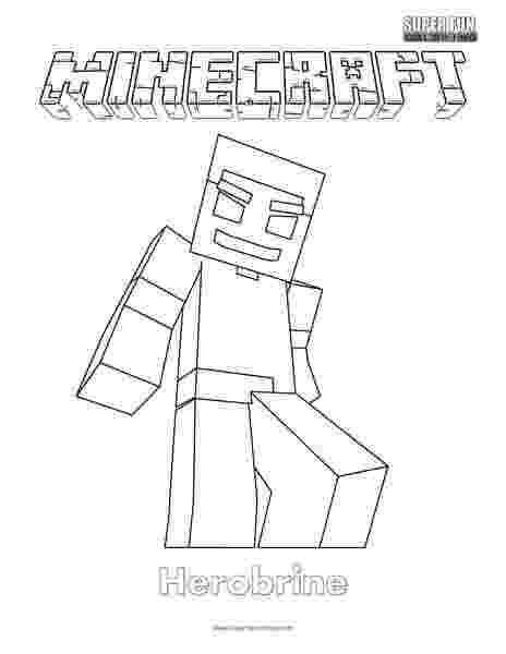 minecraft herobrine coloring page minecraft herobrine coloring pages getcoloringpagescom coloring page herobrine minecraft
