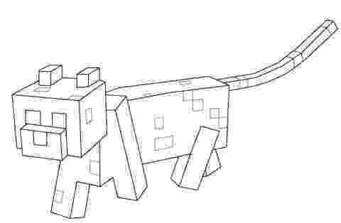 minecraft ocelot coloring pages free coloring pages of minecraft ocelot 4414 ocelot minecraft pages coloring