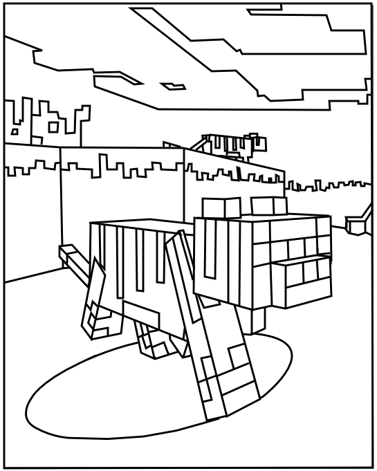 minecraft ocelot coloring pages minecraft coloring pages coloring minecraft pages ocelot
