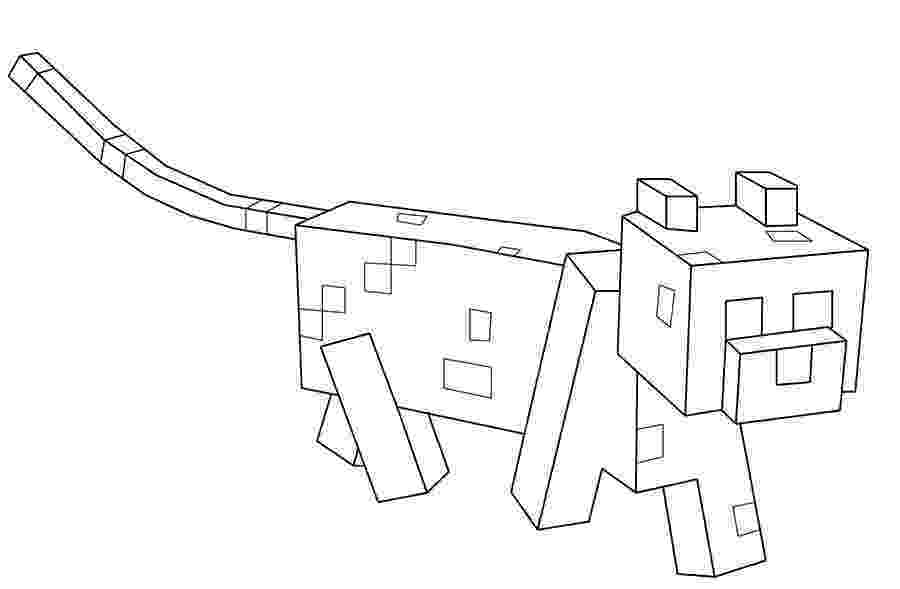 minecraft ocelot coloring pages minecraft coloring pages to download and print for free minecraft coloring ocelot pages