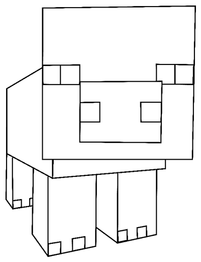 minecraft pig printable how to draw pig from minecraft with easy step by step printable pig minecraft