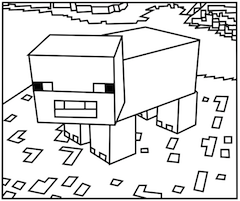 minecraft pig printable printable minecraft pigs coloring pages monkey birthday pig printable minecraft