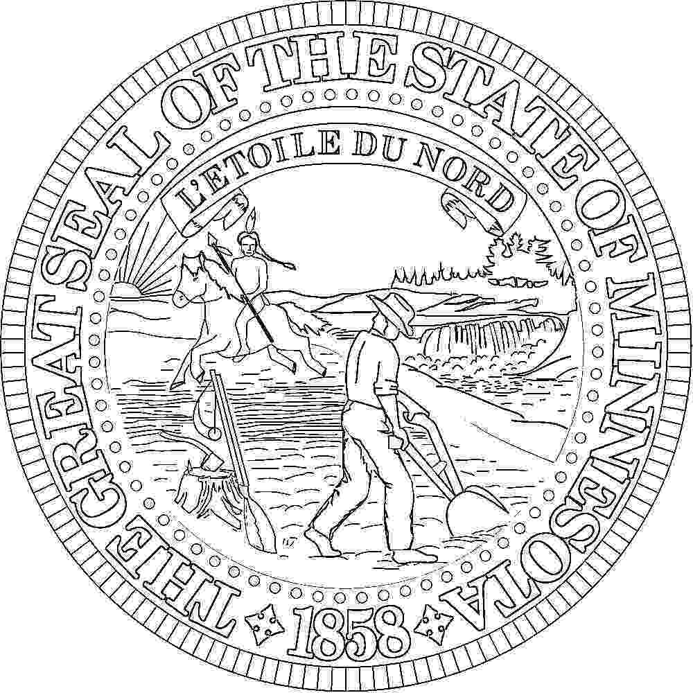 minnesota state seal picture minnesota flags emblems symbols outline maps minnesota seal picture state