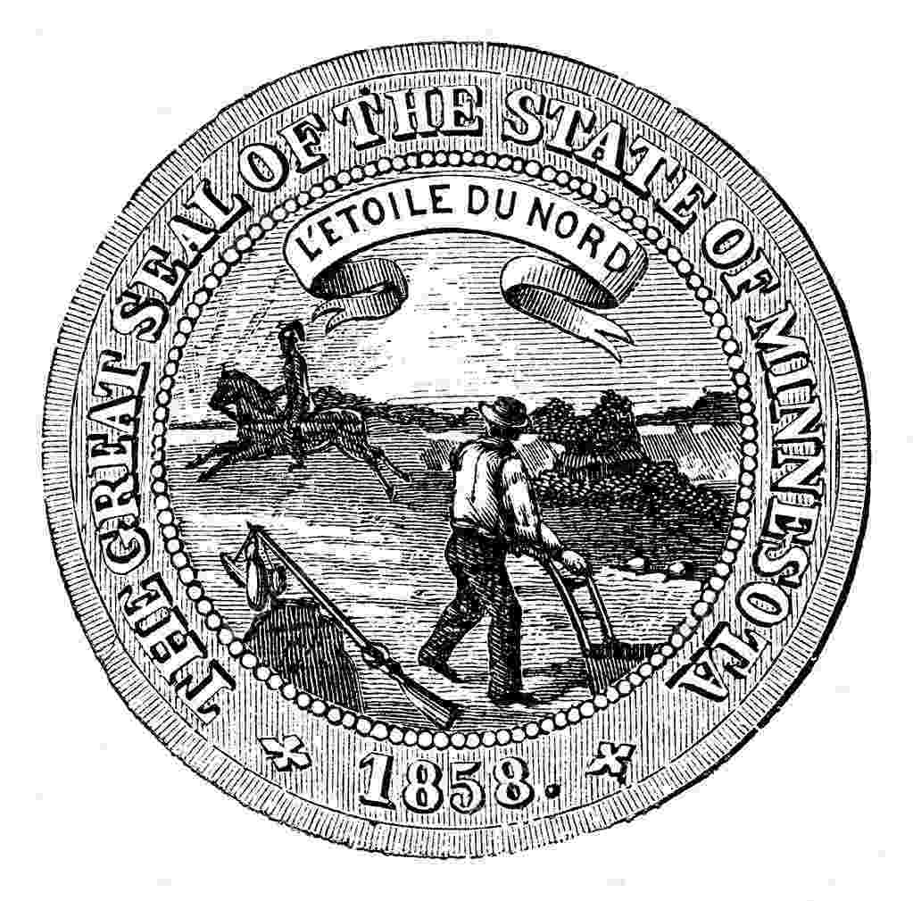 minnesota state seal picture seal of the state of minnesota vintage engraving stock state picture seal minnesota