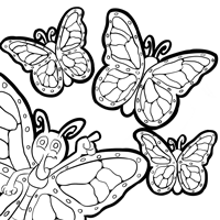 monarch butterfly life cycle coloring page free monarch butterfly and caterpillars coloring images life butterfly coloring cycle monarch page