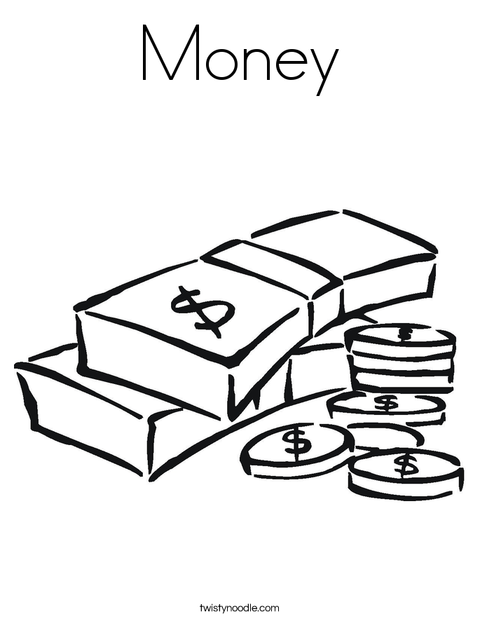 money coloring page printable money coloring pages for kids cool2bkids money coloring page