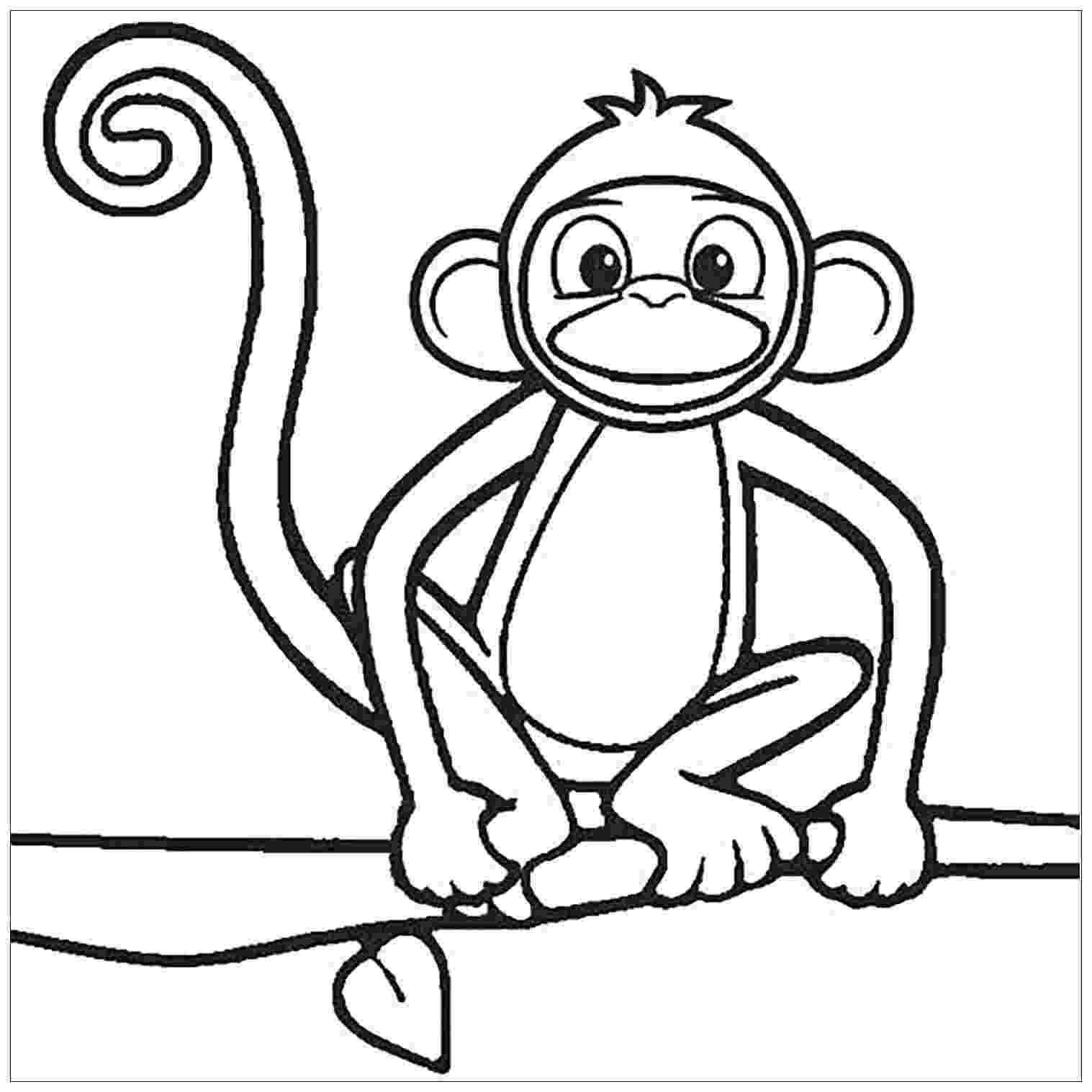 monkey color pages baby monkey coloring pages to download and print for free monkey color pages