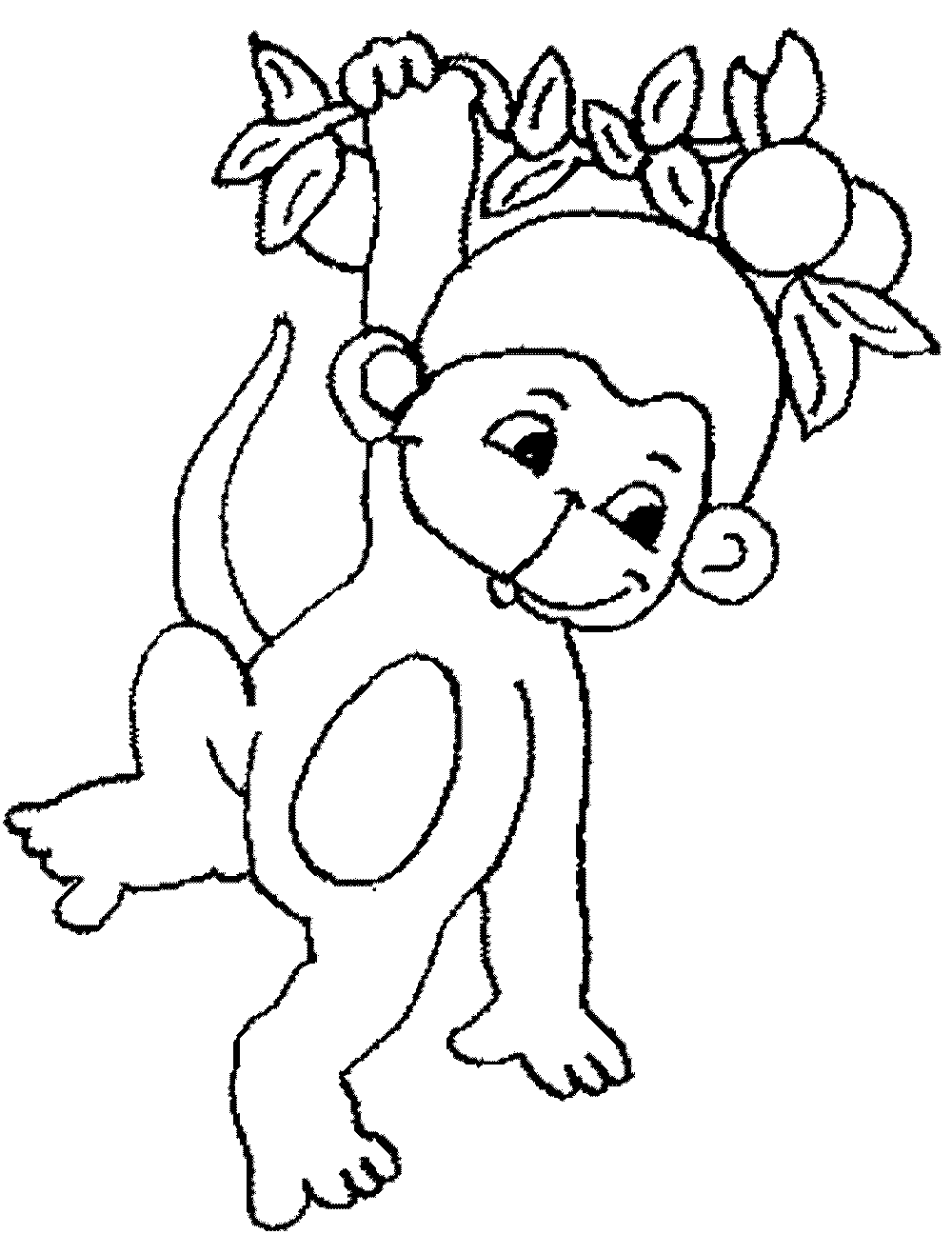 monkey color pages cartoon animals kids monkey coloring page wecoloringpagecom pages color monkey