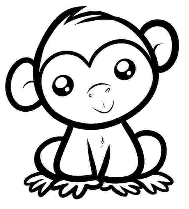 monkey color pages free printable monkey coloring pages for kids cool2bkids pages monkey color