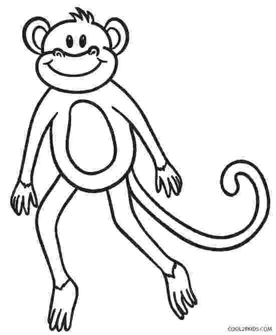 monkey color pages free printable monkey coloring pages for kids monkey pages color
