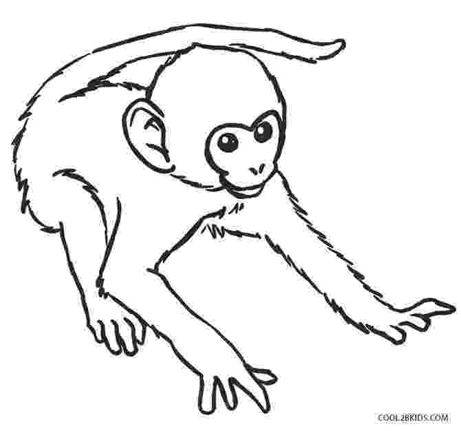 monkey coloring sheet coloring pages for kids sheet monkey coloring