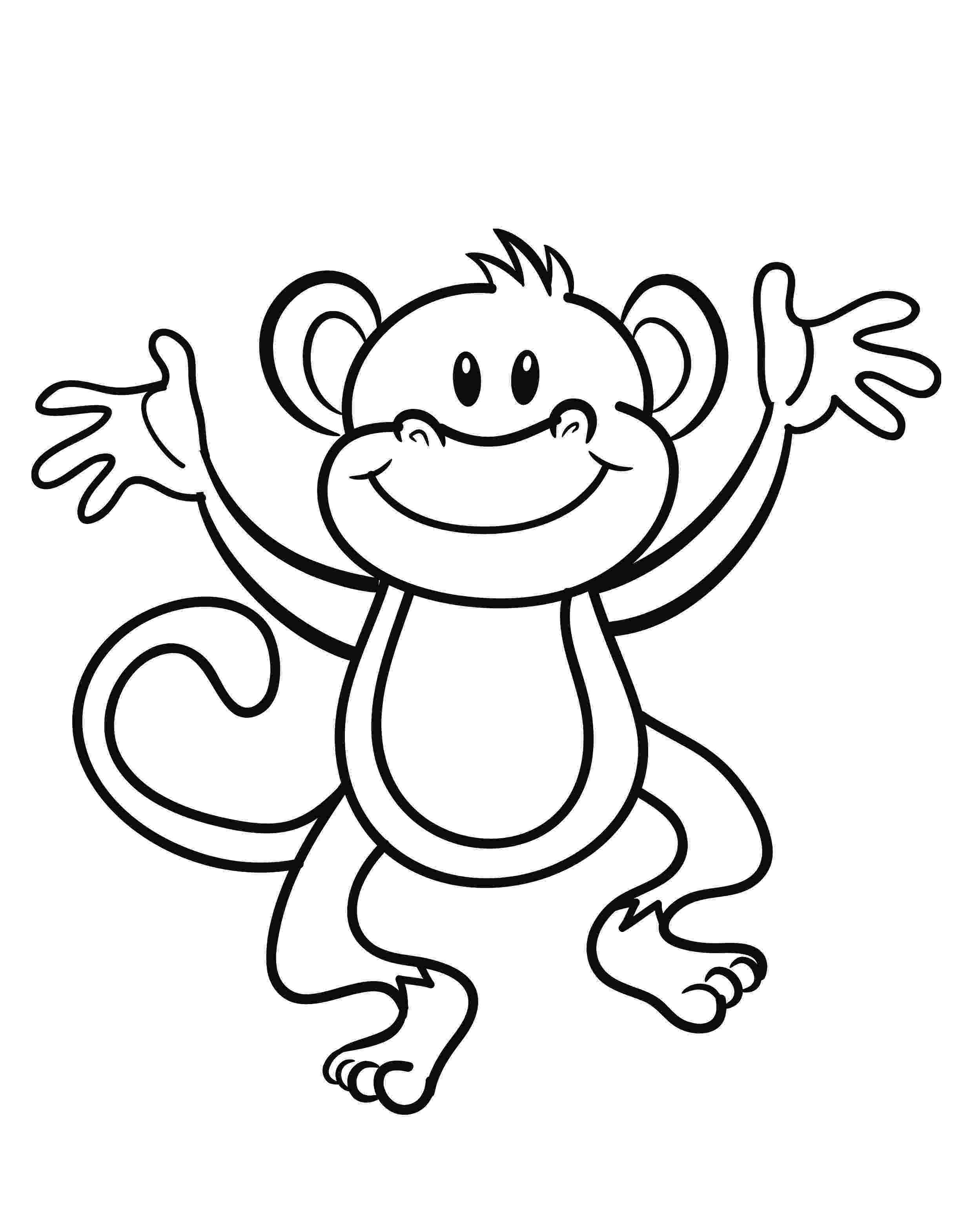 monkey coloring sheet monkey coloring pages getcoloringpagescom coloring monkey sheet
