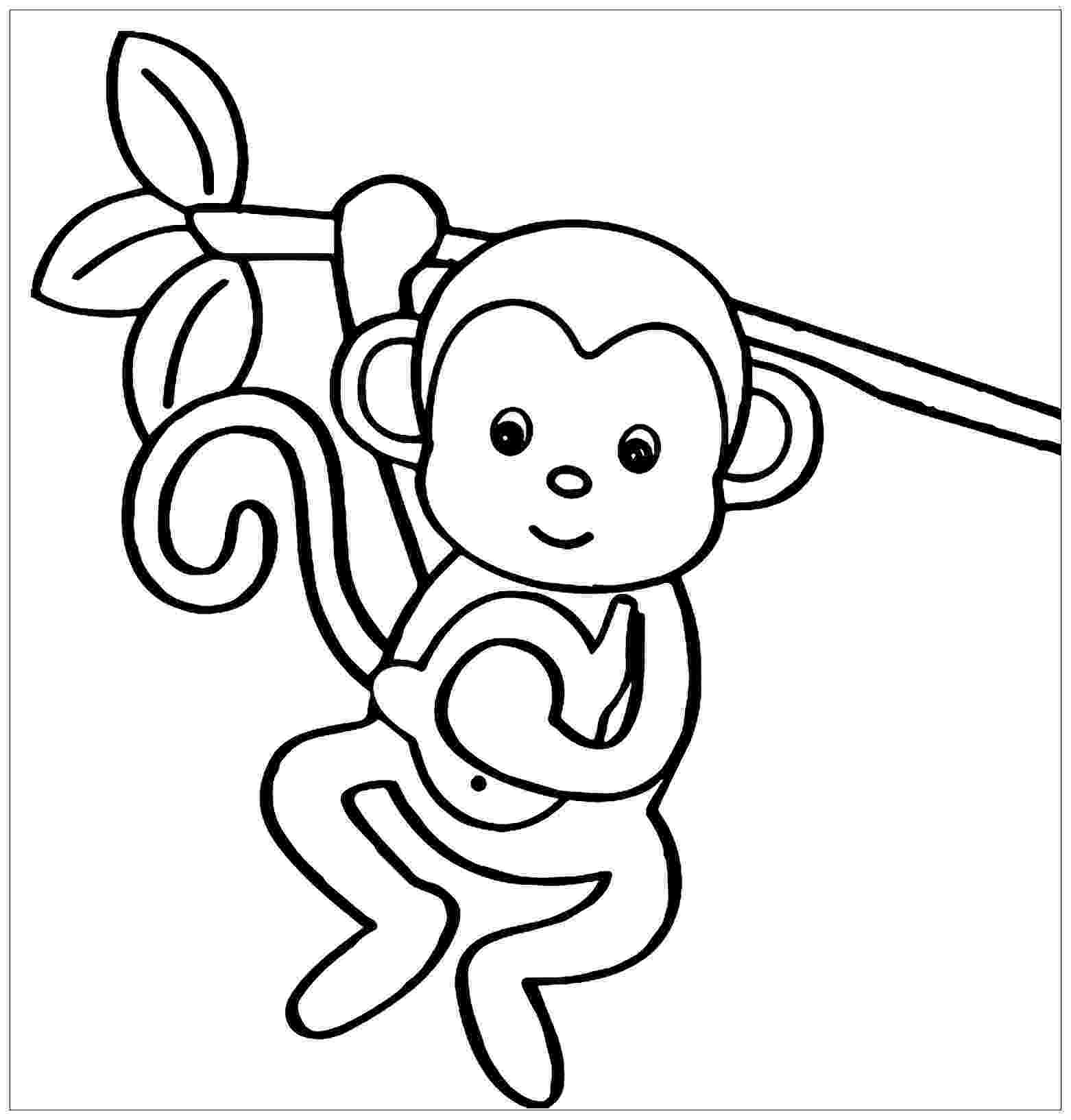 monkey colouring page free printable monkey coloring pages for kids cool2bkids monkey page colouring