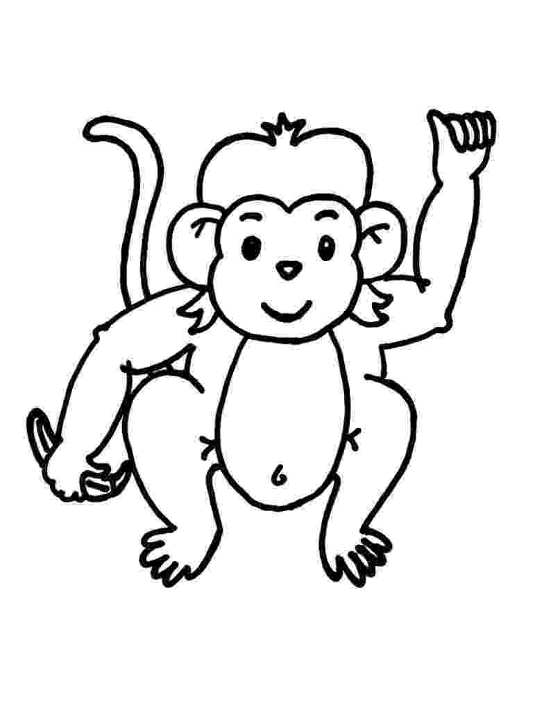monkey colouring page printable monkey clipart coloring pages cartoon crafts colouring page monkey