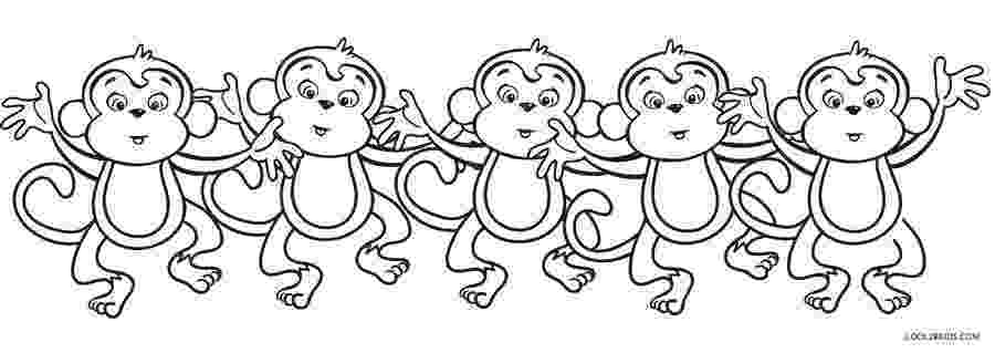 monkeys coloring pages free printable monkey coloring pages for kids coloring pages monkeys 1 1