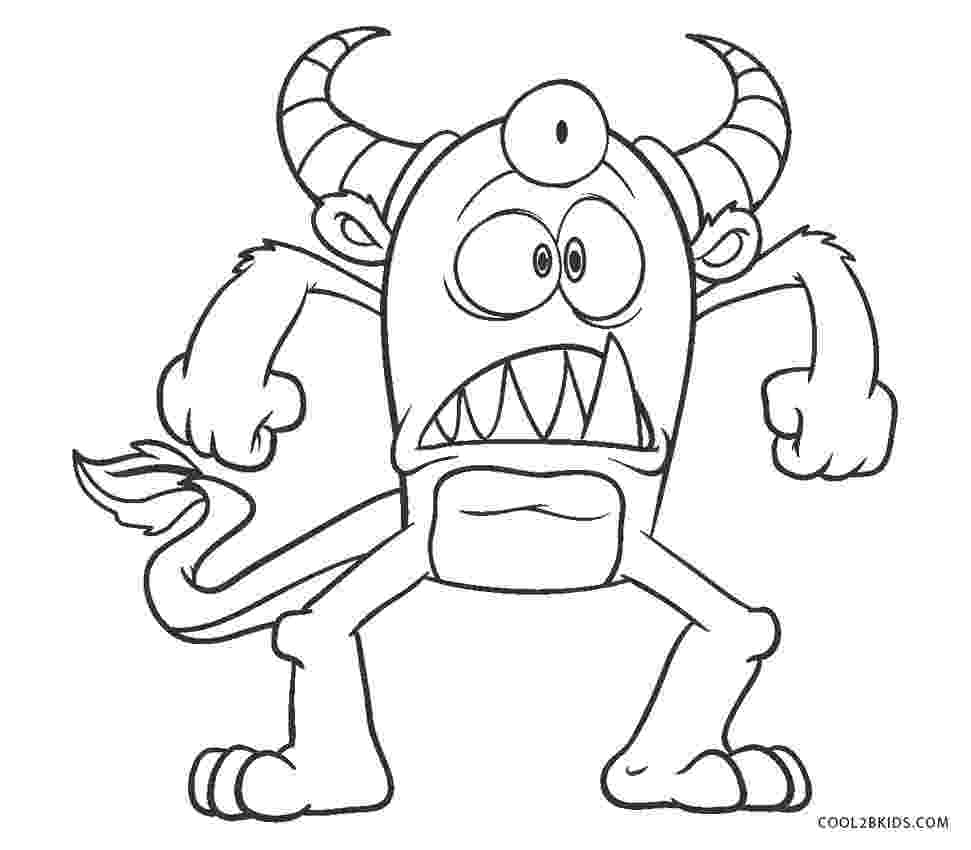 monster coloring sheet cute cartoon monster coloring page free printable monster sheet coloring
