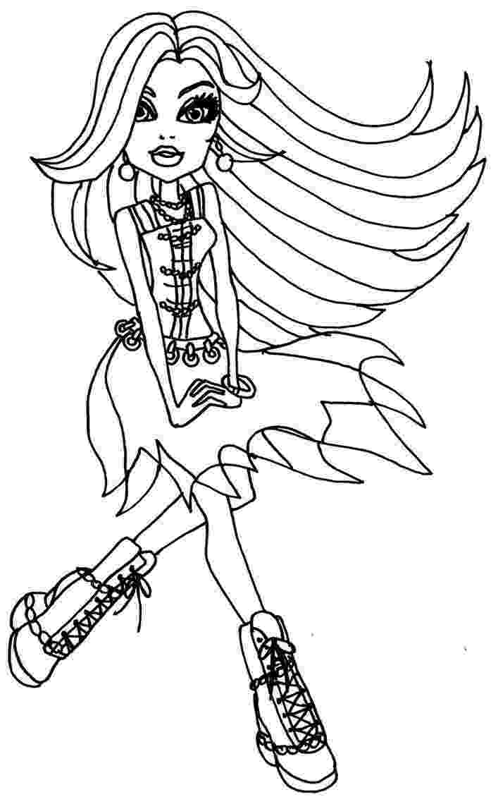 monster high coloring pages free free printable monster high coloring pages february 2013 coloring high free pages monster