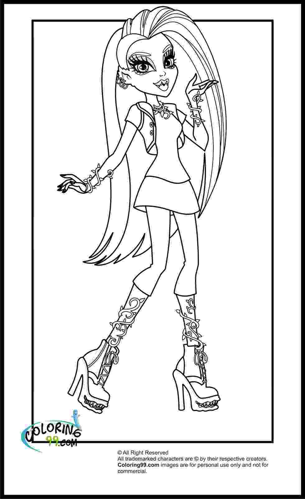 monster high coloring picture coloring pages monster high coloring pages free and printable picture high coloring monster