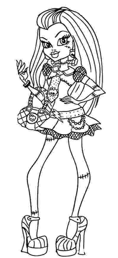 monster high coloring picture monster high coloring pages team colors coloring monster high picture