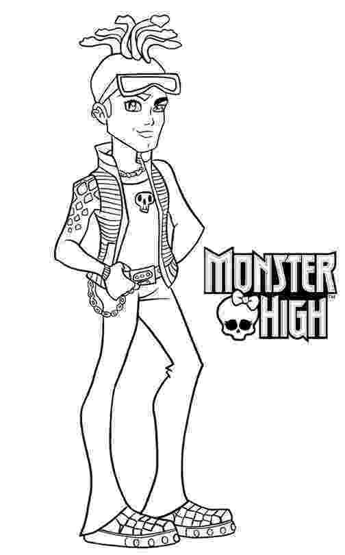 monster high deuce coloriage a imprimer monster high deuce gordon gratuit et monster deuce high