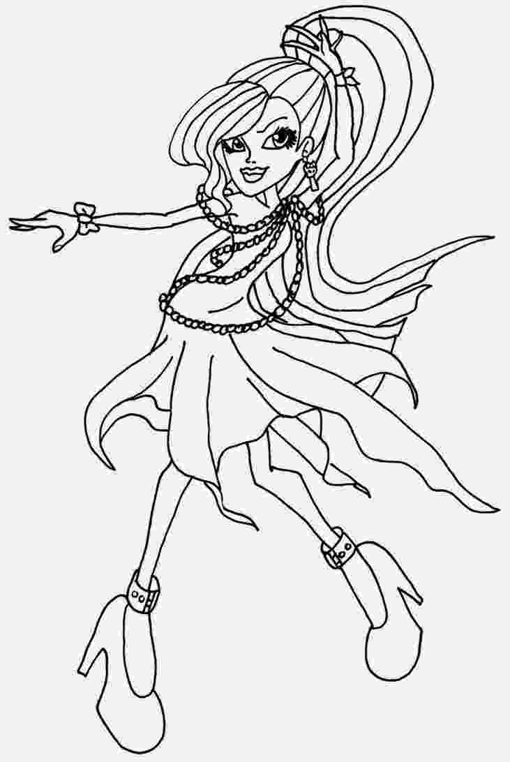 monster high for coloring monster high skelita calaveras coloring page learn to monster high coloring for