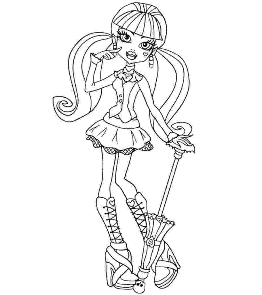 monster high free colouring pages clawdeen wolf monster high coloring pages for kids monster colouring free high pages