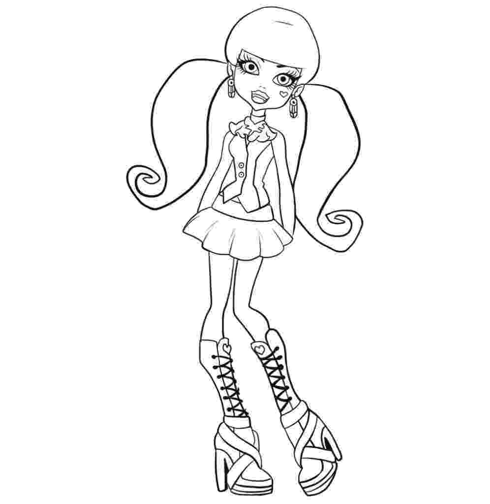 monster high free colouring pages monster high whatzit coloring page free printable free monster pages colouring high