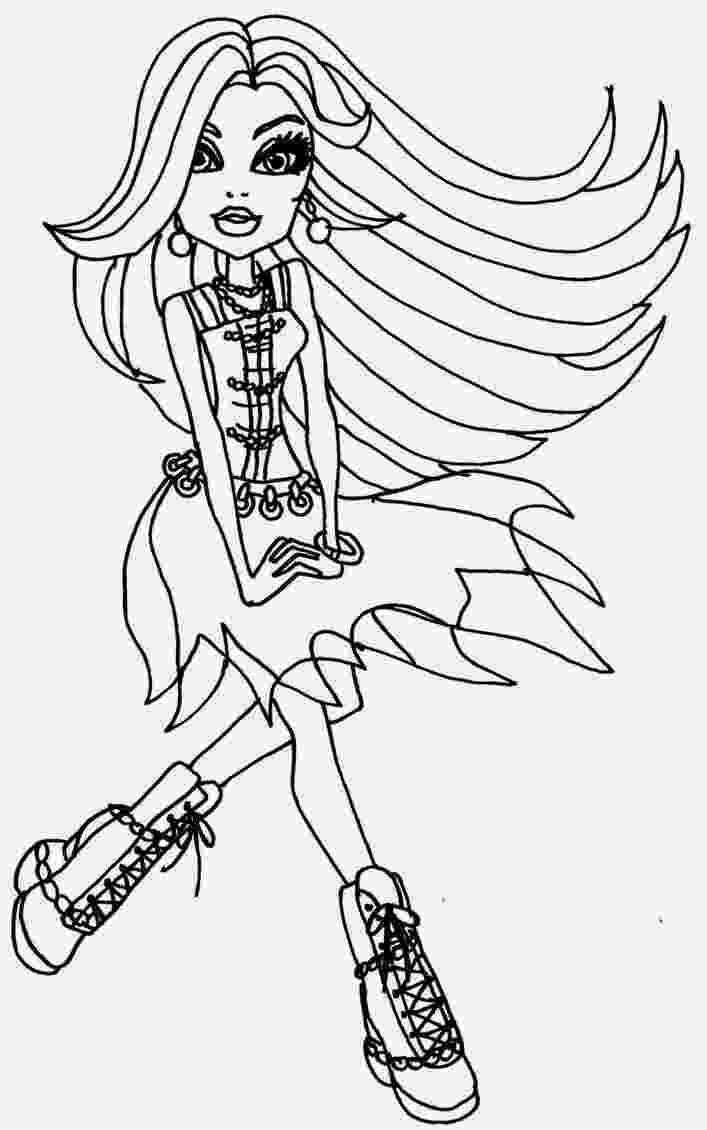 monster high pages to color coloring pages monster high coloring pages free and printable color pages high to monster