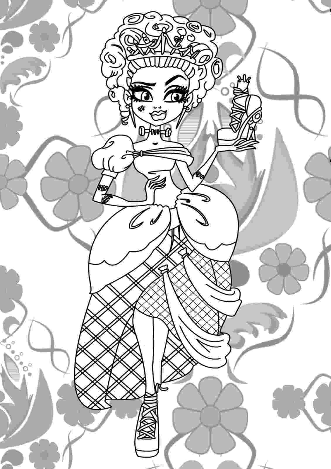monster high pages to color coloring pages monster high coloring pages free and printable monster pages to color high