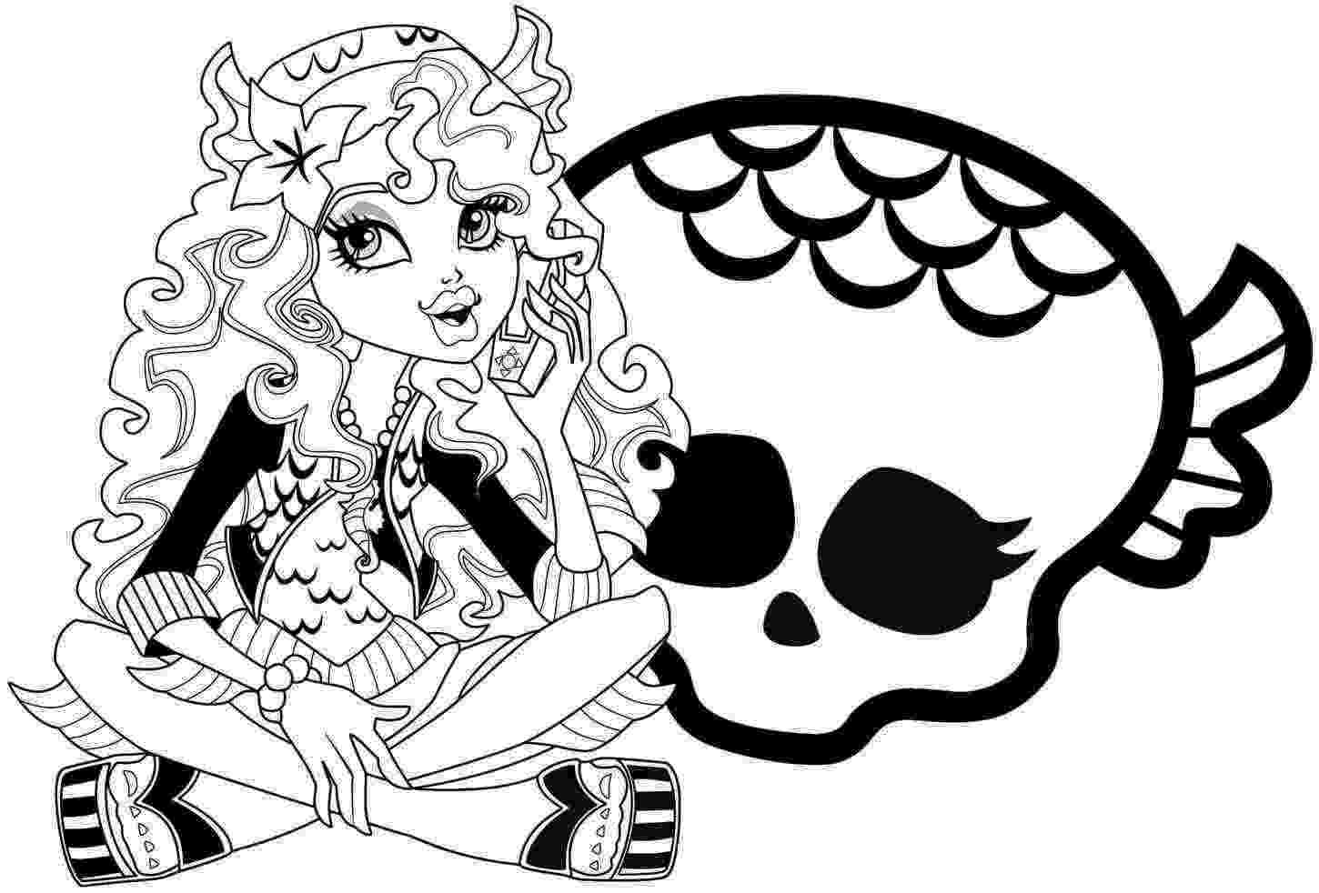 monster high pages to color monster high catty noir coloring page free printable monster high color pages to